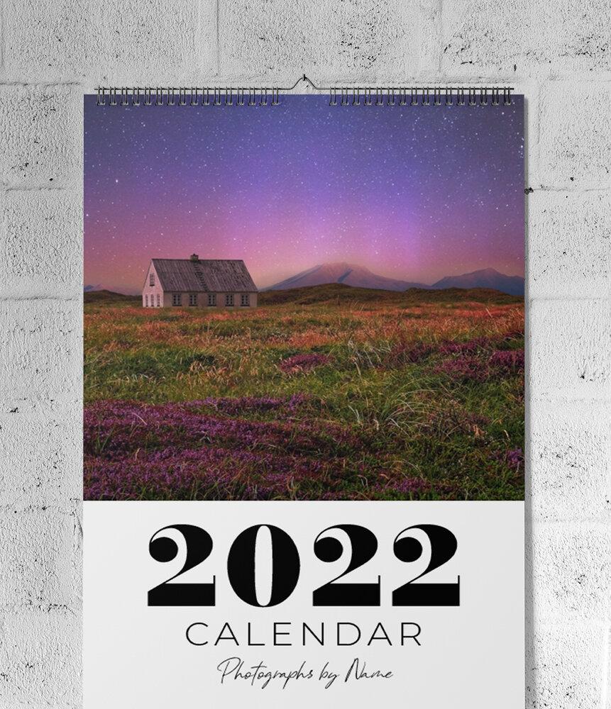 11 x 17 Large 12-Month Wall Calendar