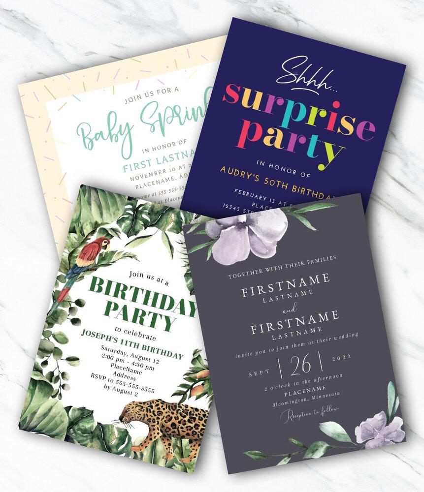 Invitations (Flat Cards)