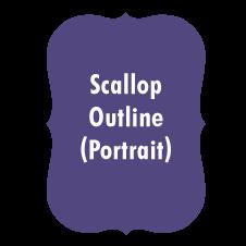A7 Scallop Outline (Portrait)